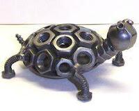 manualidades con chatarra reciclada - tortuga