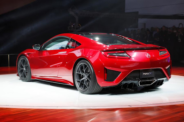 2016 New Honda NSX Supercar performance back view