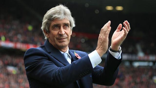 manuel pellegrini dirige son dernier match en tant qu'entraineur de Manchester City
