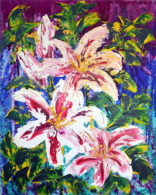 http://paintingsbylyndacookson.blogspot.fr/2016/05/tropical-flowers-by-lynda-cookson.html