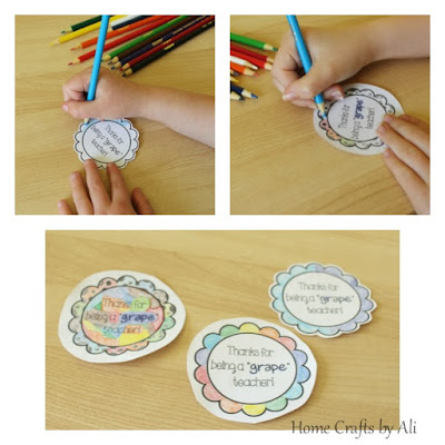 easy gift for teacher appreciation quick kids craft free printable colored tags