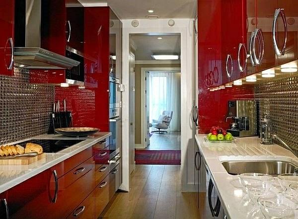 10 estupendas fotos de cocinas pequeñas   colores en casa