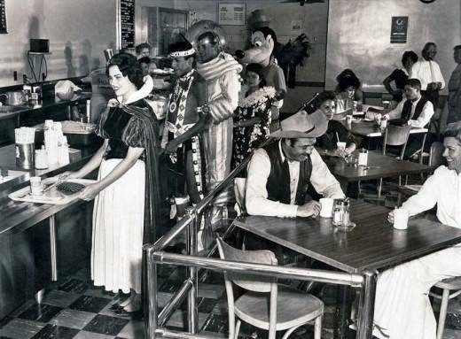 Ultimate Collection Of Rare Historical Photos. A Big Piece Of History (200 Pictures) - Disneyland cafeteria