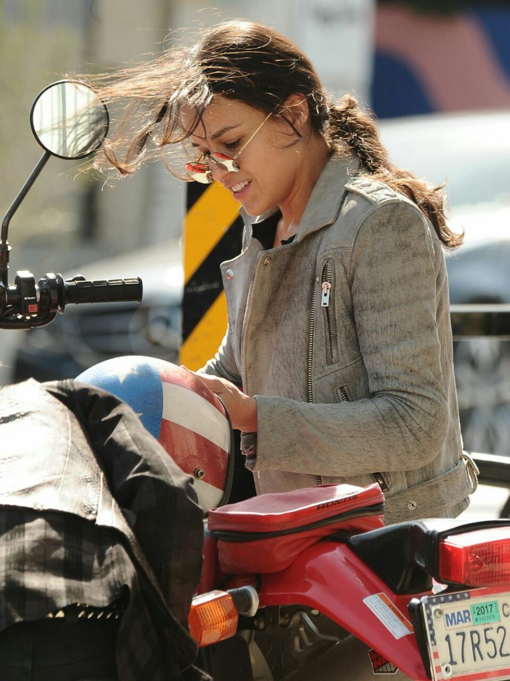 Michelle Rodriguez Riding A Bike Out In Venice
