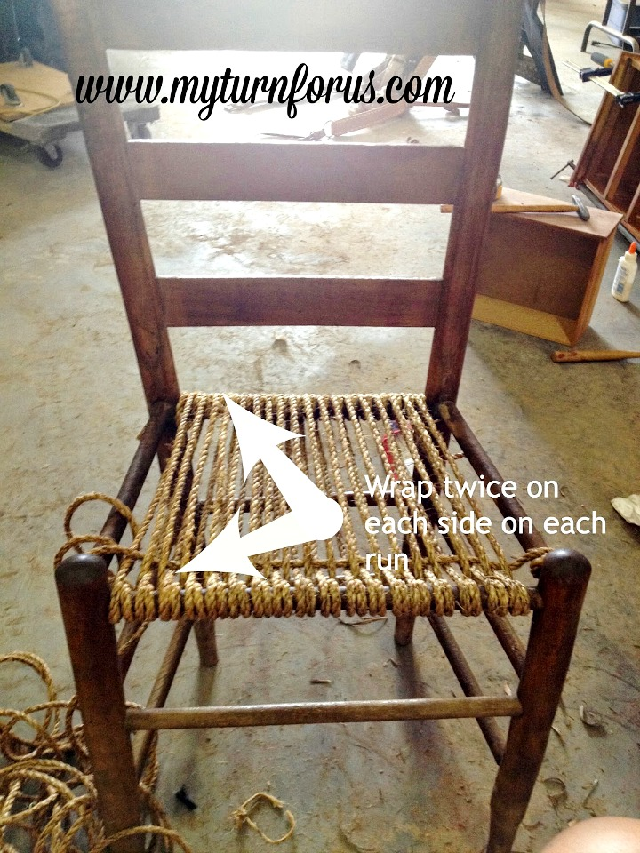 Directions to weave a hemp seat