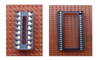 IC SOCKET (16 PIN and 40 PIN)