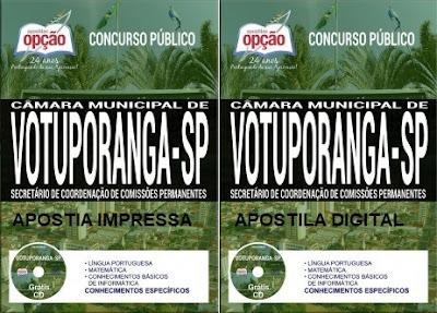 Edital Concurso Câmara de Votuporanga 2017 (Apostilas)