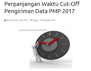 Cut-Off Pengiriman Data PMP 2017 Diperpanjang