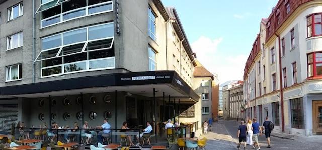 Outside Pegasus restaurant - Tallinn Old Town