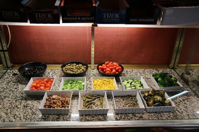 salad bar at The Hatch at Vogue House