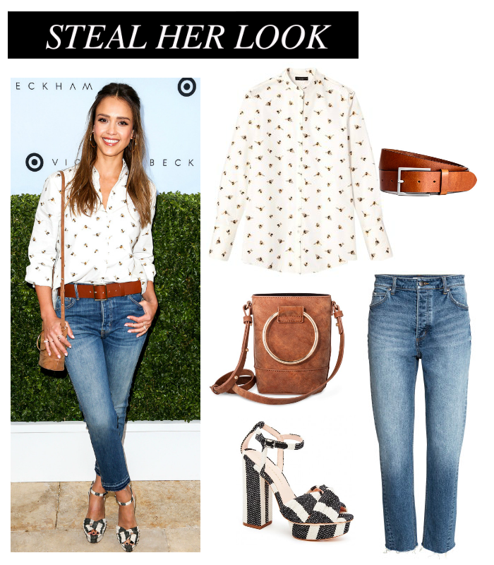 b948163d7 Steal her Look: Jessica Alba. Jessica Alba was recently spotted at the  Victoria Beckham X Target collection launch party wearing ...