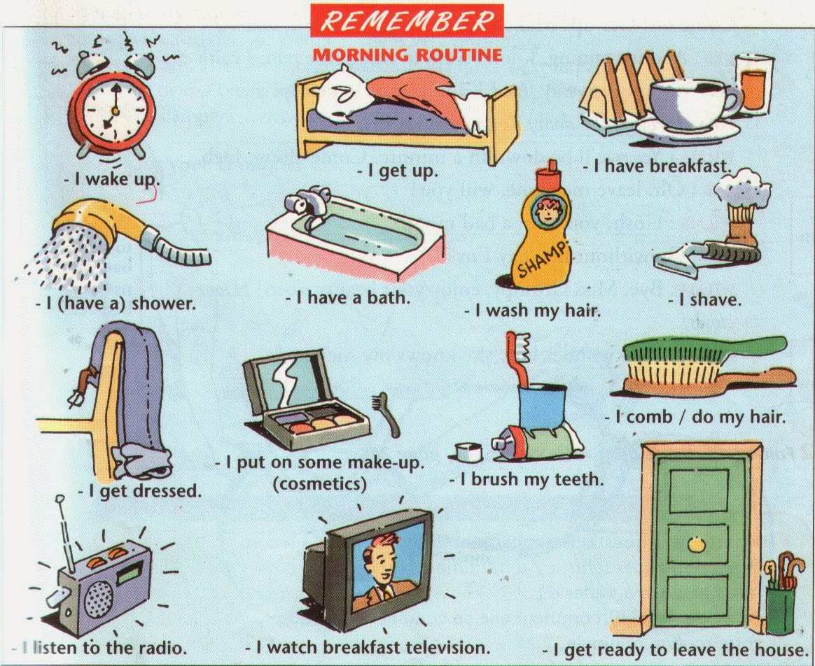 My English Pages Online Daily Routines Activities