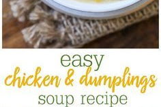 Chicken and Dumplings Soup Recipe