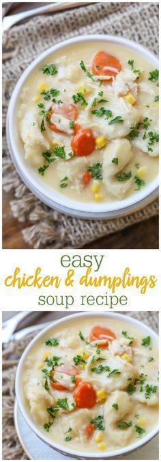 Chicken and Dumplings Soup Recipe