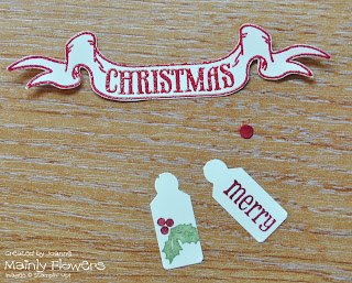 holly christmas card tag punch