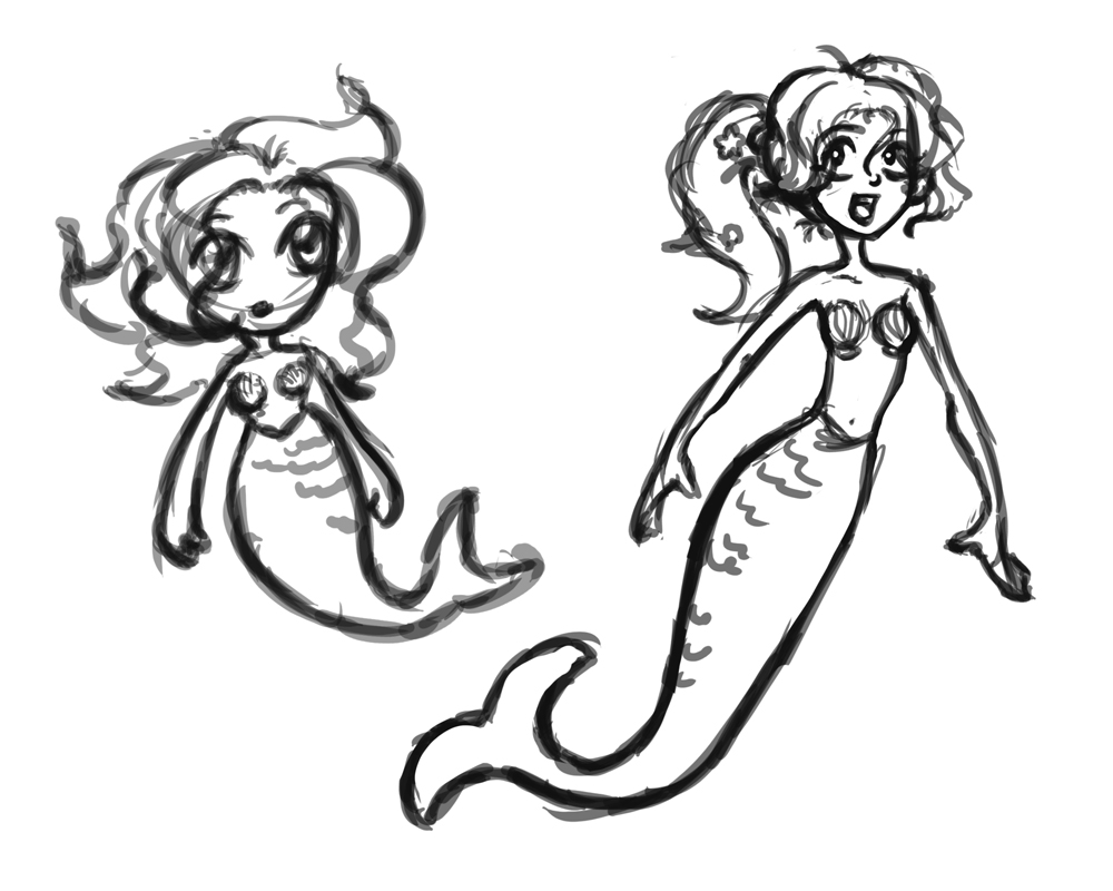Mermaid Sketches For Kids | www.imgkid.com - The Image Kid ...