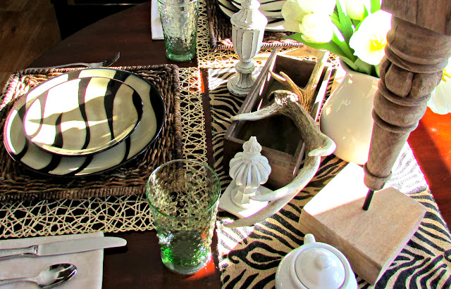 Antlers & Zebra Tablescape