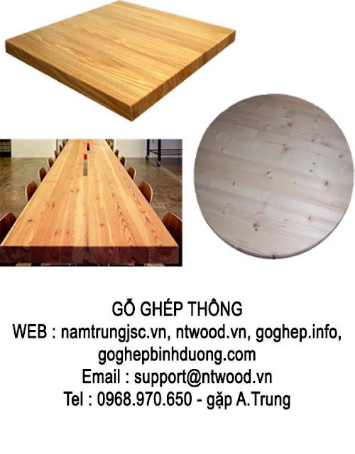 gỗ ghép thông