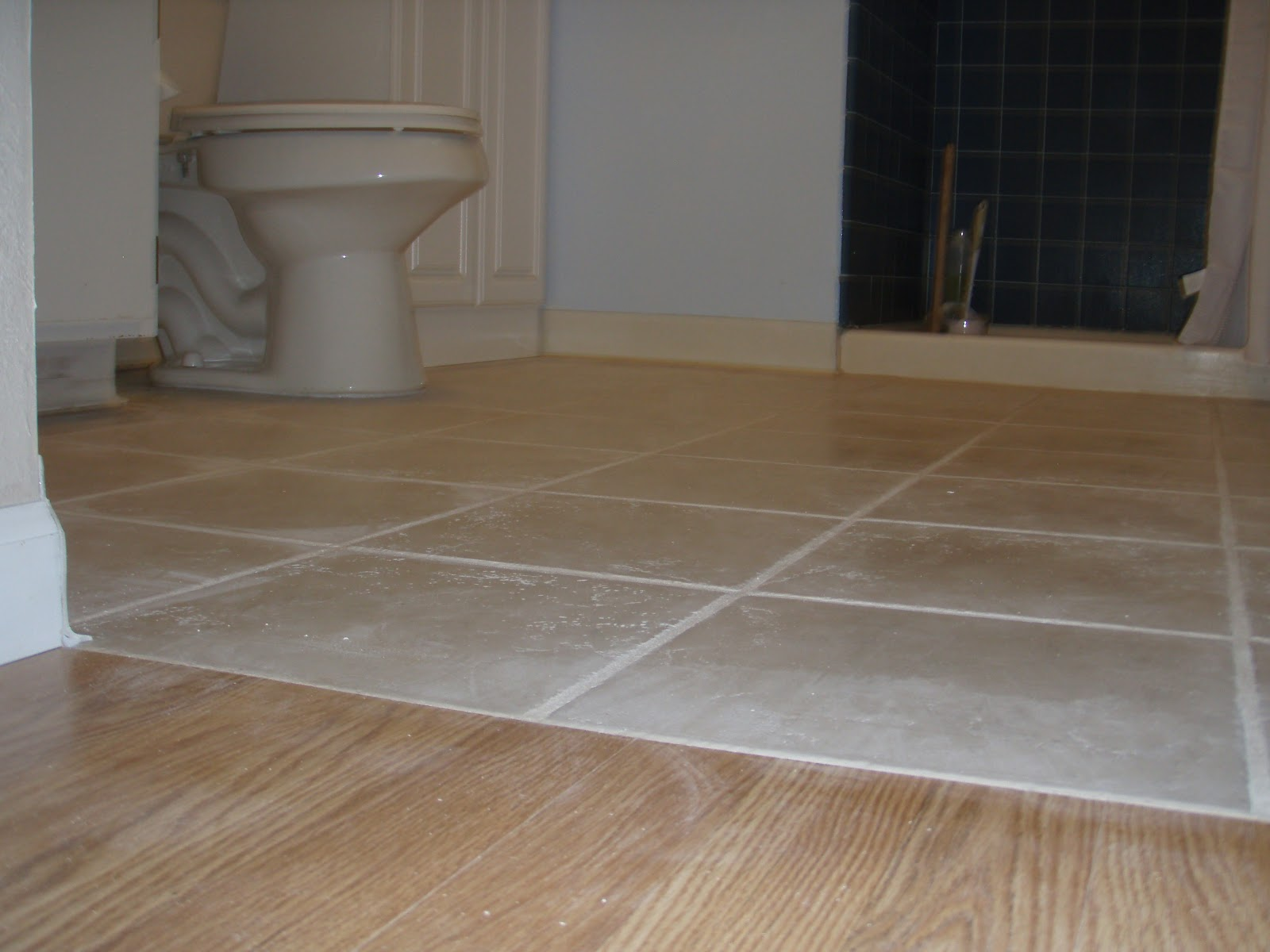 Wood And Tile Floor And Removing A Door Carpentry And