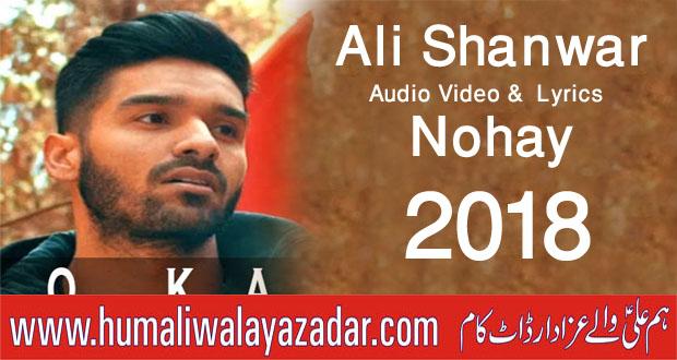 Ali Maula Qasida: Ali Shanawar Nohay 2018 Lyrics