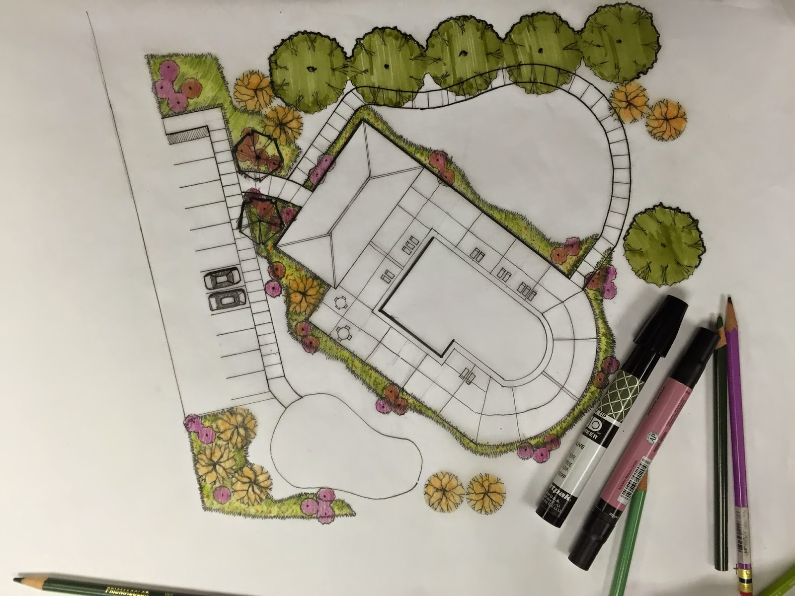Jacky Wah LJA Engineering Houston Office Second Week – How To Draw A Site Plan By Hand