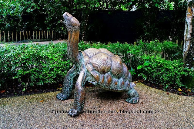 Turtle sculpture in Singapore Zoo