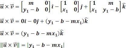 Proceso de obtención del producto vectorial de u y v