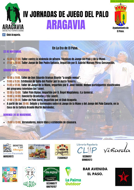 El Paso acoge este fin de semana las IV Jornadas 'Aragavia' de Juego del Palo