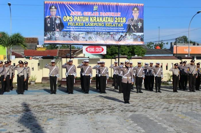 Polres Lamsel Gelar OPS Patuh Krakatau Perdana 2018 di Mapolres Lamsel