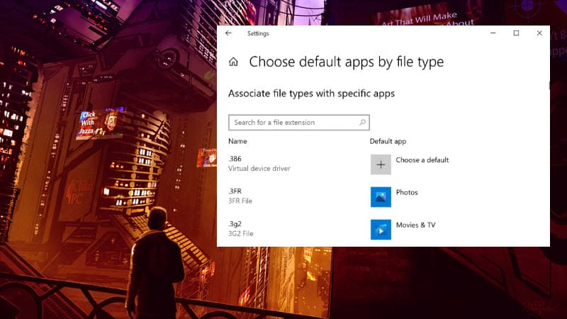Windows 10 build 20211 adds Search to the Default Apps pages in Settings