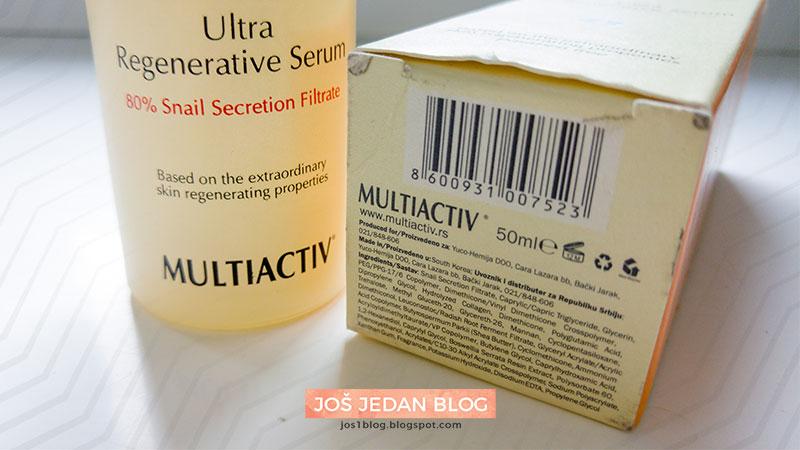 Multiactiv ultra regenerativni serum sastojci recenzija utisci