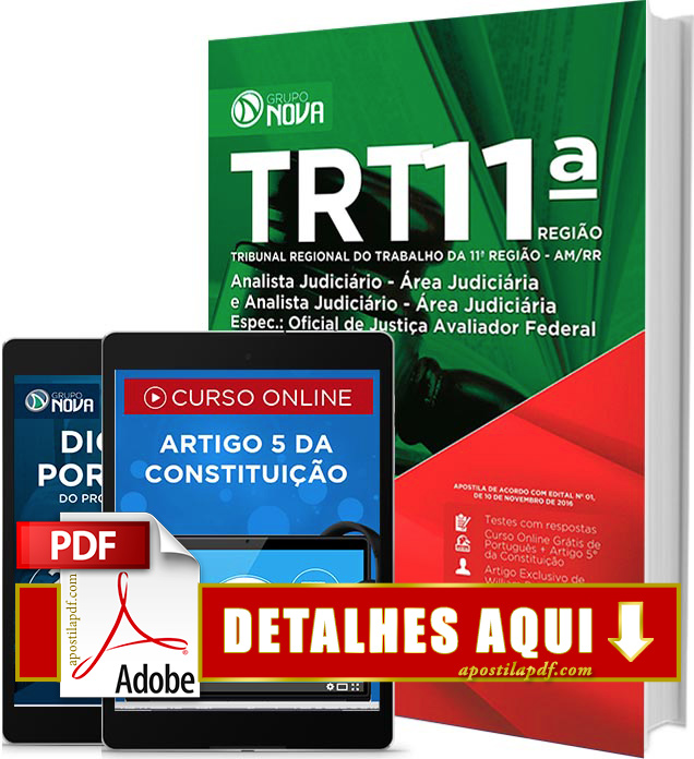 Apostila TRT 11 2016 Oficial de Justiça Impressa