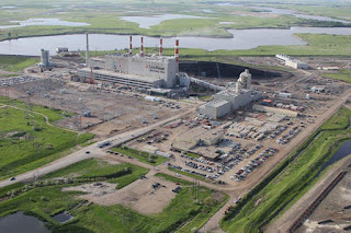 Unit 3 at the Boundary Dam coal–fired power station in Saskatchewan, Canada, completed a refurbishment program in October 2014 that included retrofitting CO2 capture facilities with a capture capacity of approximately 1 Mtpa of CO2. The majority of the captured CO2 is transported via pipeline and used for enhanced oil recovery at the Weyburn Oil Unit, also in Saskatchewan. A portion of the captured CO2 is transported via pipeline to the nearby Aquistore Project for dedicated geological storage. (Image Credit: SaskPower CCS) Click to Enlarge.
