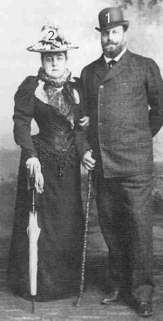 Grand Duke Alexei Alexandrovich and the Duchess of Leuchtenberg
