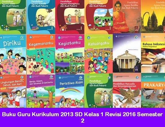 Buku Guru Kurikulum 2013 SD Kelas 1 Revisi 2016 Semester 2