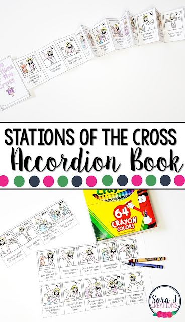 Stations of the cross printable mini book is the perfect activity for kids so that they can learn the events of Good Friday and Easter