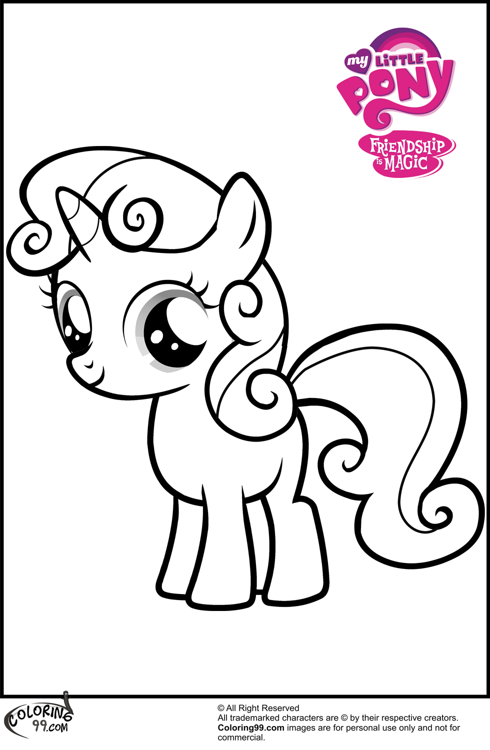 MLP Sweetie Belle Coloring Pages | Minister Coloring