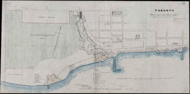 Map: 1851 Gordon: Toronto Plan to Accompany the Returns called for by Board's Order
