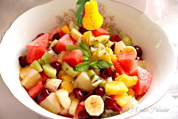 Ensalada de frutas al malib el dulce paladar - Como hacer coctel de frutas ...