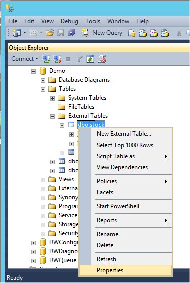 Realized Design: Create PolyBase External Table in SQL Server 2016