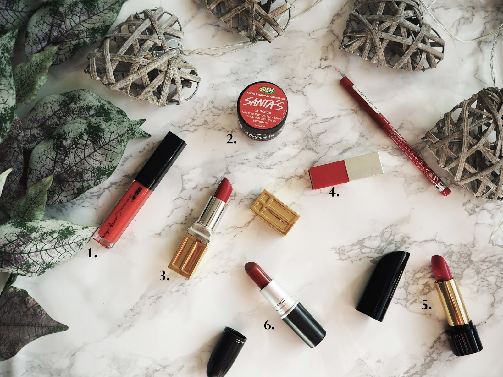 The Red Lip Edit // Lauren Rose Style Blog // Fashion Beauty Lifestyle London ft. Mac, Lancome, Clinique, Elizabeth Arden // Christmas Festive Make-up