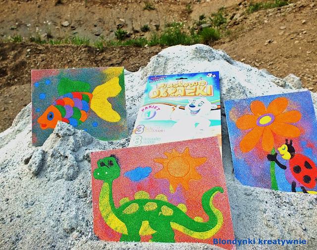 Sensoryczna zabawa - tworzenia piaskowych obrazków.