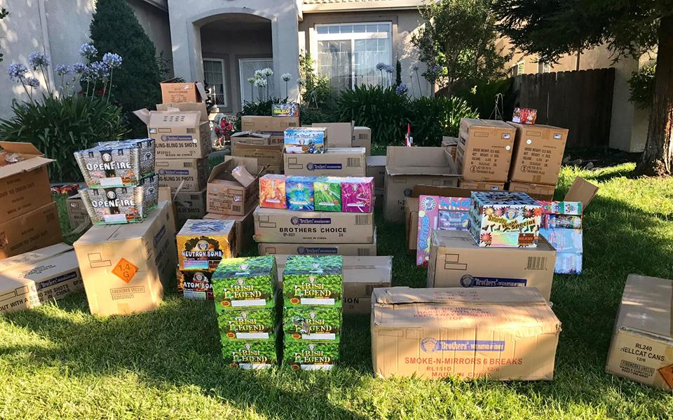 Hundreds Of Pounds Of Illegal Fireworks Seized In Stockton