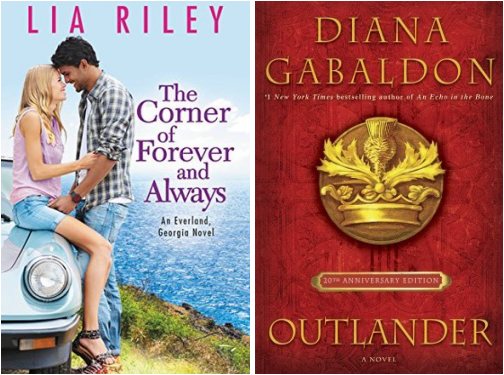 The Corner of Forever and Always by Lia Riley Outlander by Diana Gabaldon