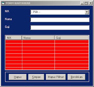 Project Menggunakan ListView Pada Visual Basic 6.0 Tanpa Database !!!