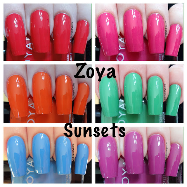 Zoya Sunsets Swatches