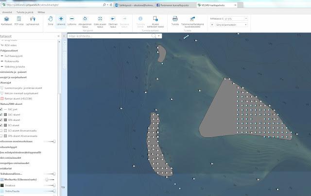 Ilmakuvakartta GIS-ohjelmassa avattuna