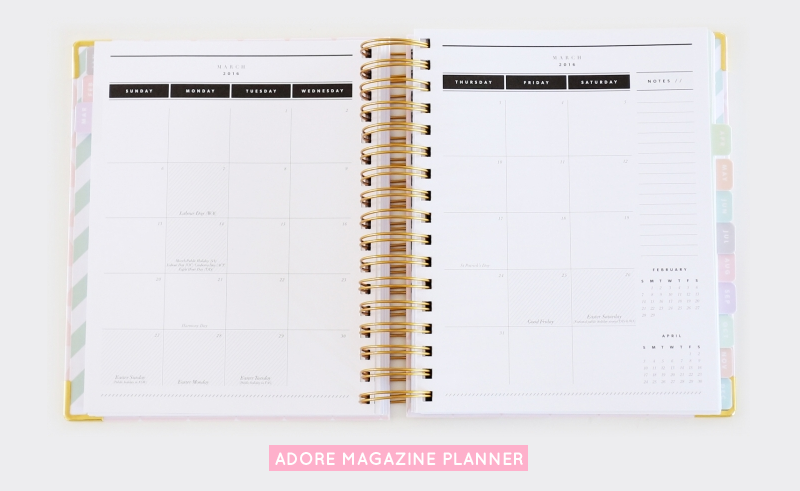 Adore Home Magazine Daily Planner