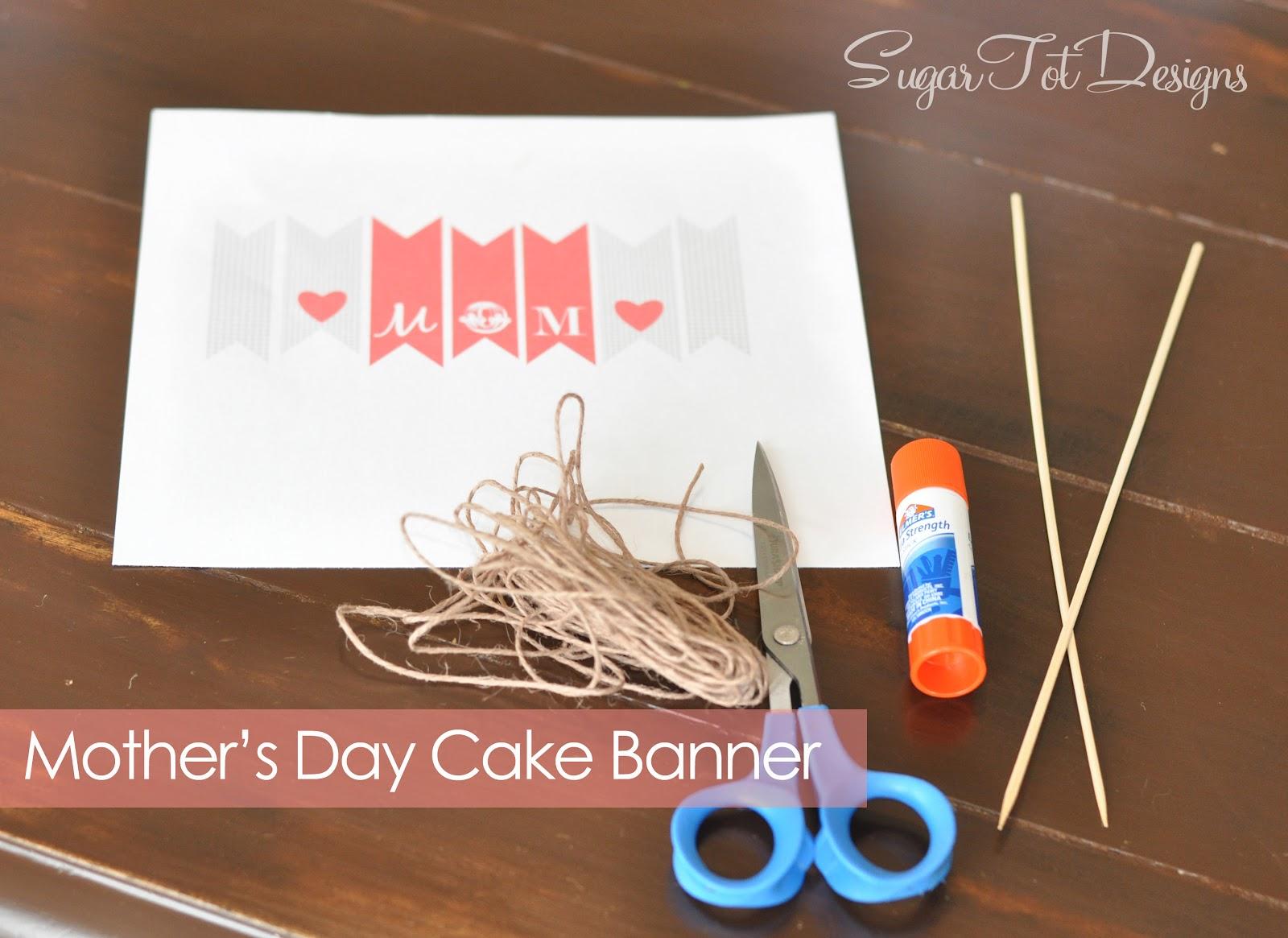 sugartotdesigns mother 39 s day mini banner free printable. Black Bedroom Furniture Sets. Home Design Ideas