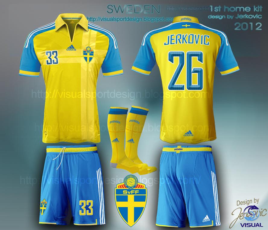 d136d7a7f Visual Football Fantasy Kit Design  SWEDEN ADIDAS FOOTBALL KIT